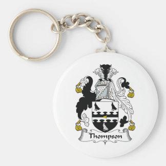 Thompson Family Crest Keychain