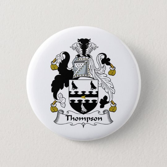 Thompson Family Crest Pinback Button
