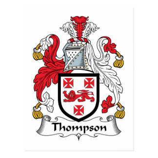 Thompson Family Crest Postcard