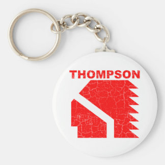 Thompson High School Warriors Basic Round Button Keychain