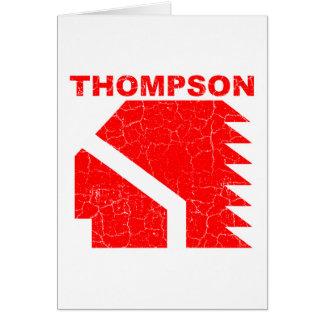 Thompson High School Warriors Card