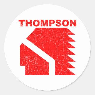 Thompson High School Warriors Classic Round Sticker