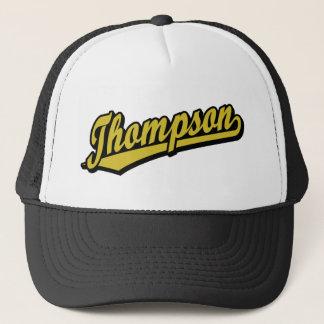 Thompson in Gold Trucker Hat