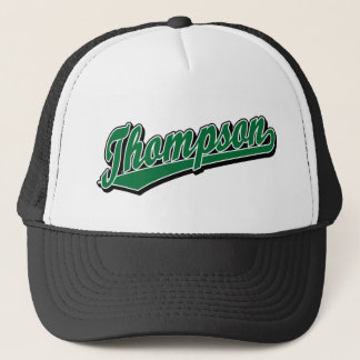 Thompson in Green Trucker Hat