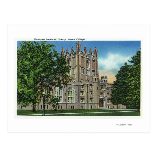 Thompson Memorial Library, Vassar College Postcard