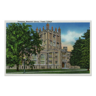 Thompson Memorial Library, Vassar College Poster