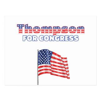 Thompson para la bandera americana patriótica Desi Postal