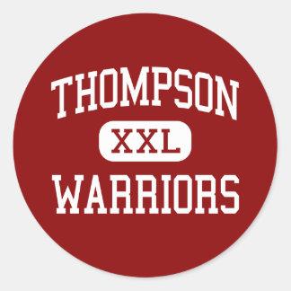Thompson - Warriors - Middle - Alabaster Alabama Round Sticker