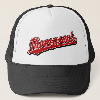 Thompson's in Red Trucker Hat