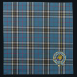 "Thomson Clan Tartan Plaid Pattern Napkin<br><div class=""desc"">Scottish heritage inspired napkins featuring Thomson or Thompson tartan plaid pattern in blue with a collored clan crest badge incorporating a boar&#39;s head and family motto.</div>"