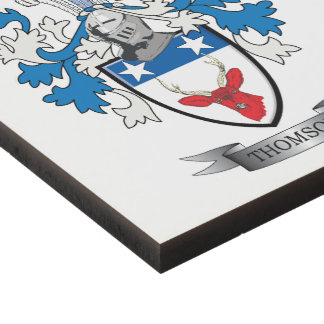 Thomson Family Crest Coat of Arms Panel Wall Art