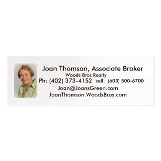 Thomson.Joan, Joan Thomson, agente del socio, W… Tarjetas De Visita Mini