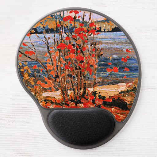 Thomson - Lake and Red Tree Gel Mouse Pad