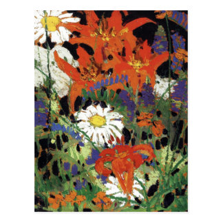 Thomson - Marguerites, Wood Lilies and Vetch Postcard