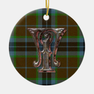 Thomson Plaid Monogram ornament