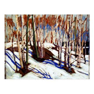Thomson - primavera temprana, lago canoe tarjeta postal