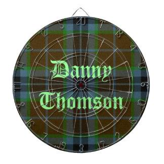 Thomson Tartan Plaid Custom Dart Board