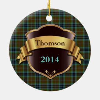 Thomson Tartan Plaid Custom ornament