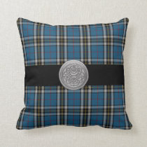 Thomson Tartan Plaid Pillow with Celtic Knot