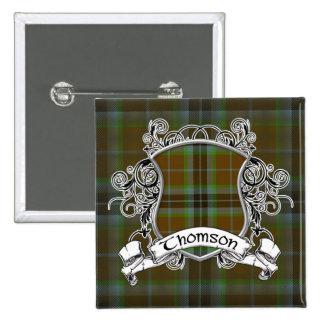 Thomson Tartan Shield Pinback Button