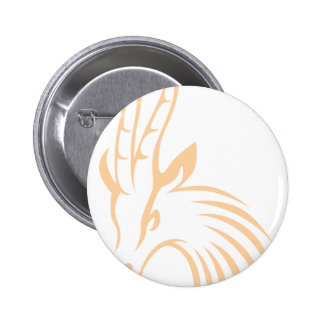 Thomson's Gazelle in Swish Drawing Style Button