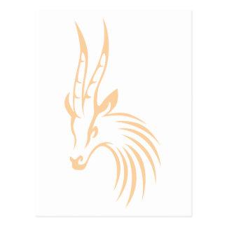 Thomson's Gazelle in Swish Drawing Style Postcard