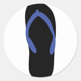 thong -  beach thongs classic round sticker