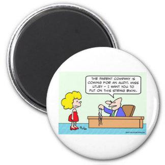 thong bikini businessman secretary 2 inch round magnet