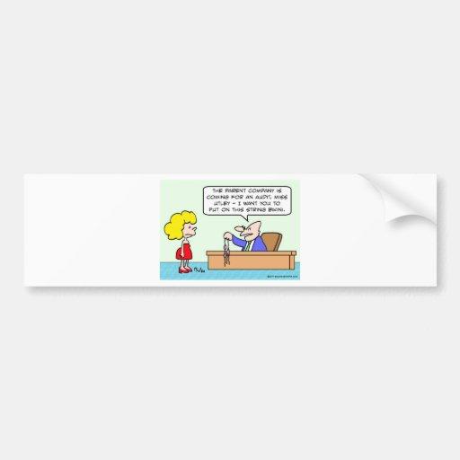 thong bikini businessman secretary bumper sticker