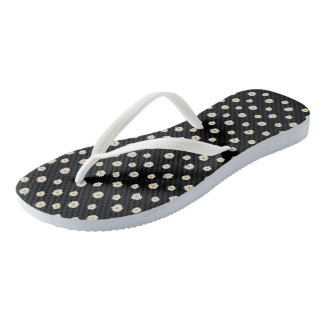 Thongs with floral daisy design flip flops