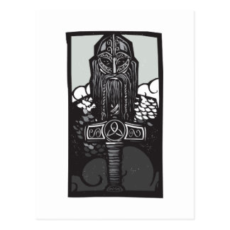 Thor and Mjolnir Postcard