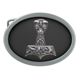thor axe oval belt buckles
