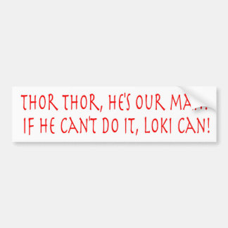 Thor Cheer Bumper Sticker