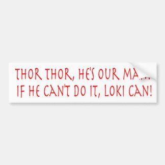 Thor Cheer Bumper Sticker