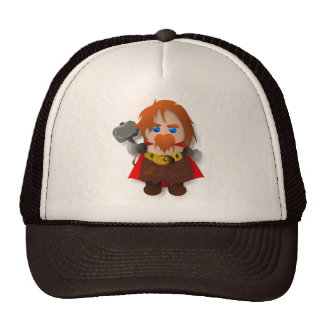Thor de Chibi con el martillo Gorros Bordados
