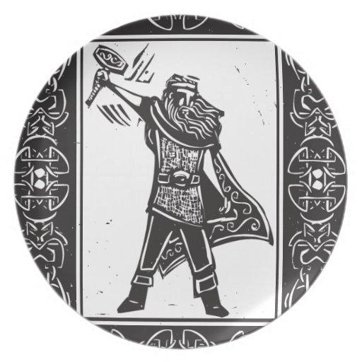 Thor de dios de los nórdises platos de comidas