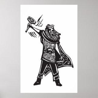 Thor de dios de los nórdises póster