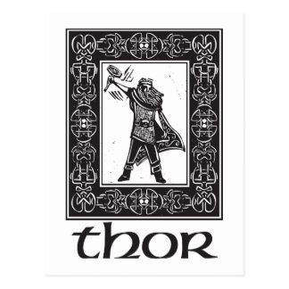 Thor de dios de los nórdises postal