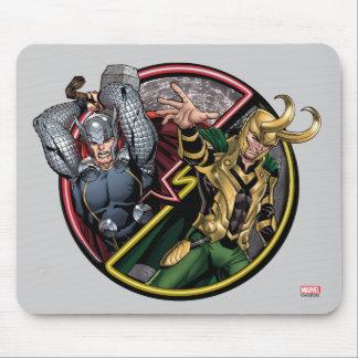Thor de las obras clásicas el | de los vengadores mouse pad
