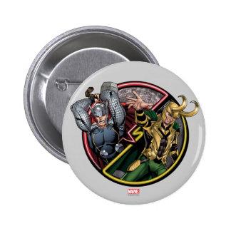 Thor de las obras clásicas el | de los vengadores pin redondo de 2 pulgadas