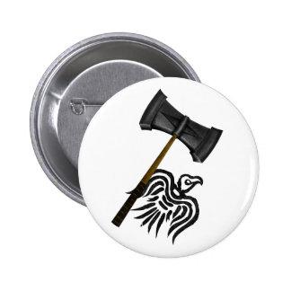 Thor del martillo de la guerra de Viking Pin Redondo De 2 Pulgadas