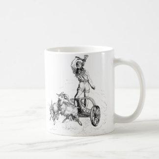 Thor en su carro tazas de café