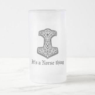 Thor, es una cosa de los nórdises taza cristal mate