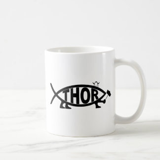 THOR Fish Classic White Coffee Mug