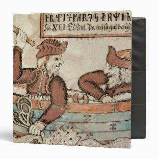 Thor fishing for the serpent of Midgard 3 Ring Binder