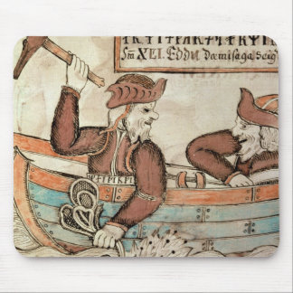 Thor fishing for the serpent of Midgard Mouse Pad