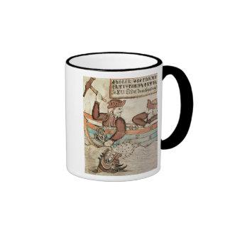 Thor fishing for the serpent of Midgard Ringer Coffee Mug
