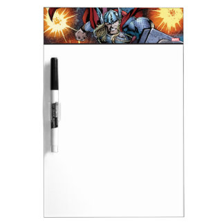 Thor Flying Through Space Comic Panel Dry Erase Board