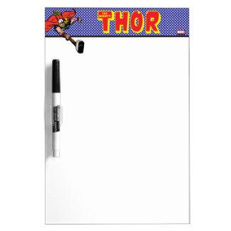 Thor Flying With Mjolnir Dry Erase Board