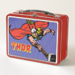 """Thor Flying With Mjolnir Metal Lunch Box<br><div class=""""desc"""">Check out this vintage comic book art of The Mighty Thor flying through the sky using the power of his hammer - Mjolnir.</div>"""